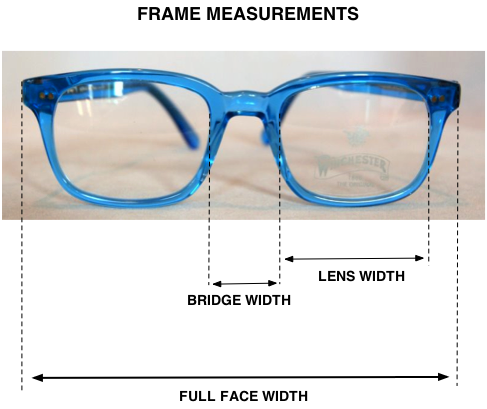 How to measure your frame size for vintage & retro glasses ...